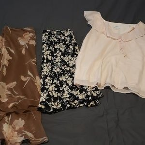The Loft/Ralph Lauren Skirts and Blouse